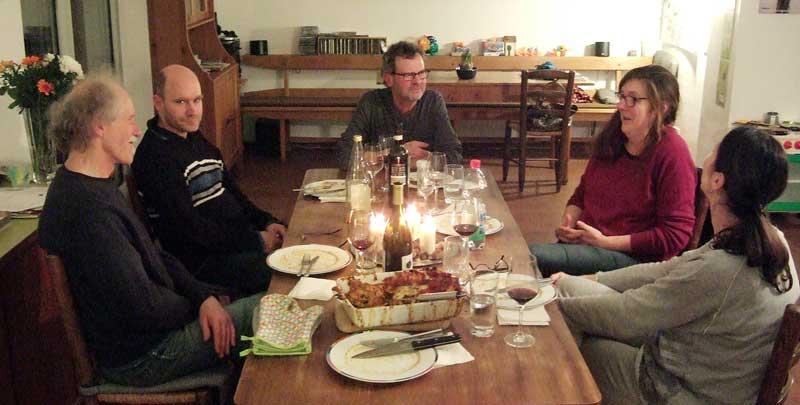 Abendessen nach dem Zazenkai